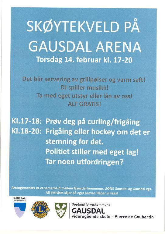 Plakat med informasjontekst om arrangementet