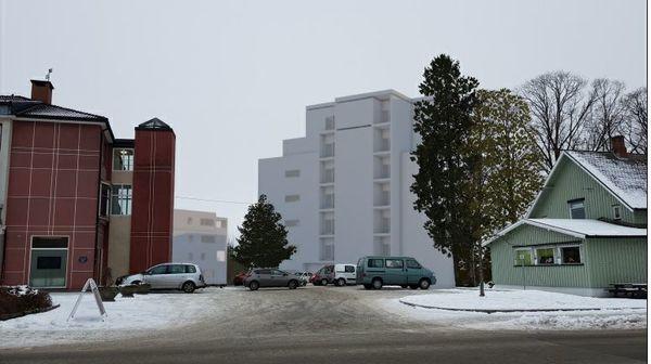 Perspektiv Nordre Mysen fra Kulturtorget