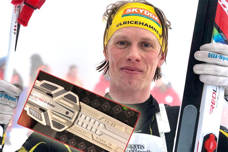 Erik Wickström etter sitt solide løp på felleski fra Madshus i Holmenkollmarsjen 2019. Foto: Privat.