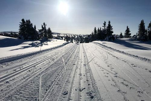 Løyper til Hafjell Ski Marathon ved Hafjell og Mosetertoppen i Øyerfjellet i Oppland. Arrangørfoto.