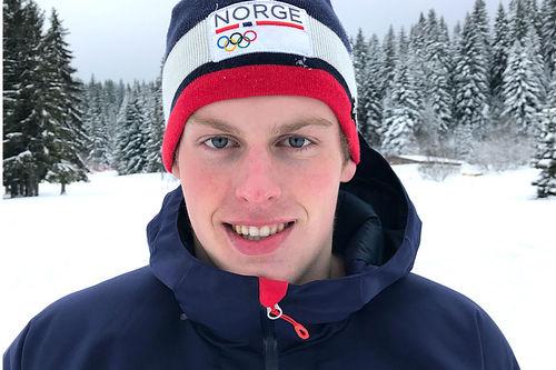 Andreas Bergsland tok gull på sprinten i Europeisk Ungdoms-OL - EYOF Sarajevo 2019. Foto: Privat.