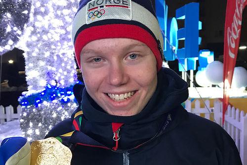 Martin Kirkeberg Mørk med gullmedalje fra Europeisk Ungdoms-OL - EYOF Sarajevo 2019. Foto: Privat.
