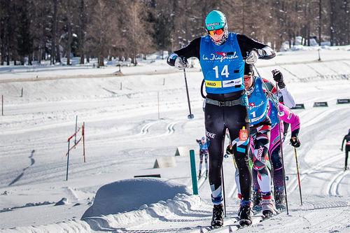 Anders Mølmen Høst i front av feltet. Foto: Modica/NordicFocus.