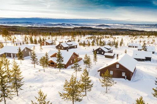 Lygnalia Hytteområde sett fra luften. Foto: BT Stokke AS.