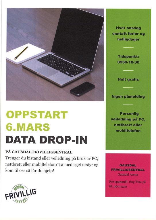 Informasjon om tilbudet data drop-in