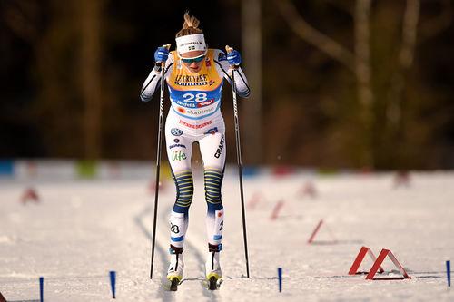 Frida Karlsson ute på 10 km i Seefeld-VM 2019. Foto: Thibaut/NordicFocus.