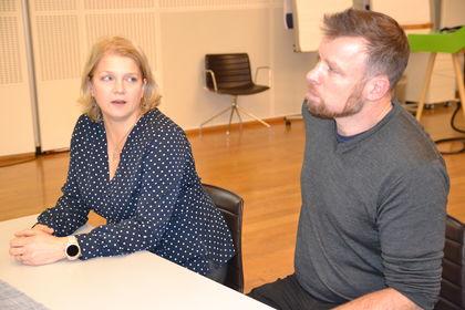 Kjersti Lien Holter og Simen Spurkland