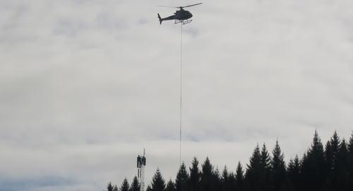Mast Skåland Helikopter