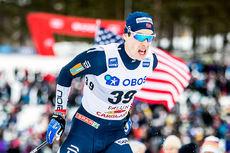 Mattis Stenshagen under verdenscupsprinten i Falun 2019. Foto: Modica/NordicFocus.