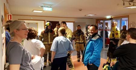 Medarbeidere på Hamarøy bygdeheim og Salten brann etter øvelse