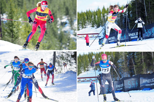 Vinnere av Snø Cup 2019. Julie Hammer, Tuva Anine Brusveen-Jensen, Johannes Edelssønn Galåen og Oliver Aukland. Foto: Morten Dybdahl / Snø Oslo.