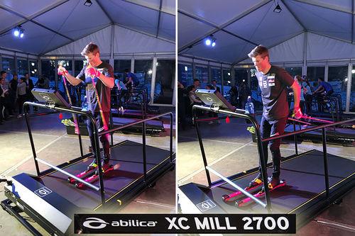 Felles tredemølle for løp, ski og sykkel fra Treningspartner og Abilica, modell XC-Mill 2700 med Johannes Høsflot Klæbo. Foto: Geir Nilsen/Langrenn.com.