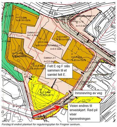 Frogner sentrum - forslag til endret plankart 21.03.2019