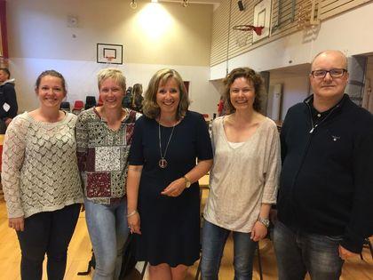 Foreldre og rektor på Åsgård skole