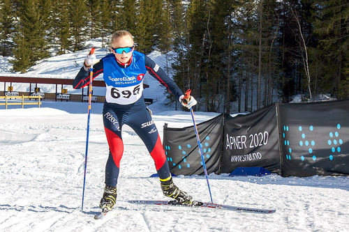 En av Fossums gode juniorløpere i aksjon. Foto: Silje Dahl Benum.