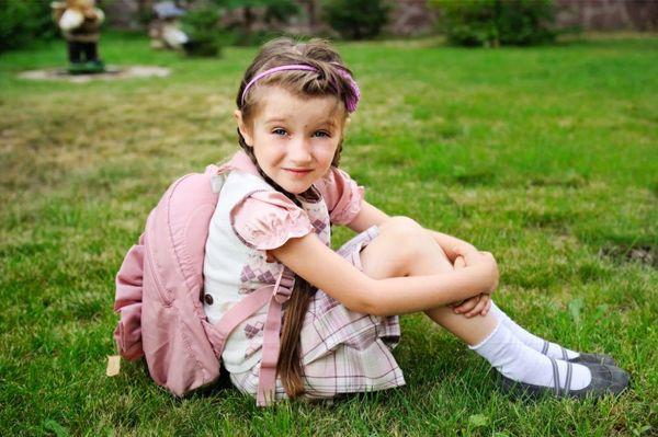 Jente klar til skolestart