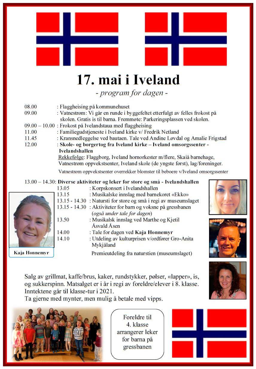 17. mai 2019 - program