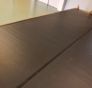 scenegulvet med matte