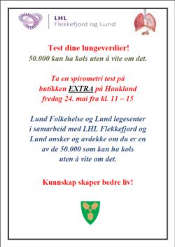 Test dine lungeverdier KOLS test 2019