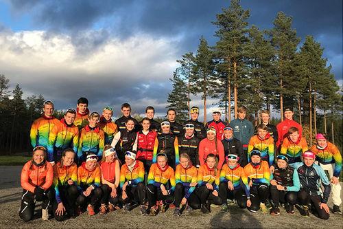 Deler av HSG-U høsten 2018. Foto: Hovden Skigymnas.