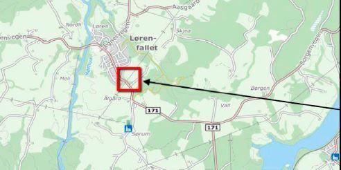 oversiktsbilde over Husebyjordet i Lørendallet