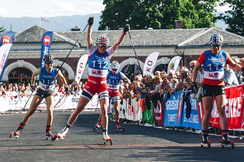Målgang i Kirkebakken Grand Prix et tidligere år. Foto: Kirkebakken Grand Prix.