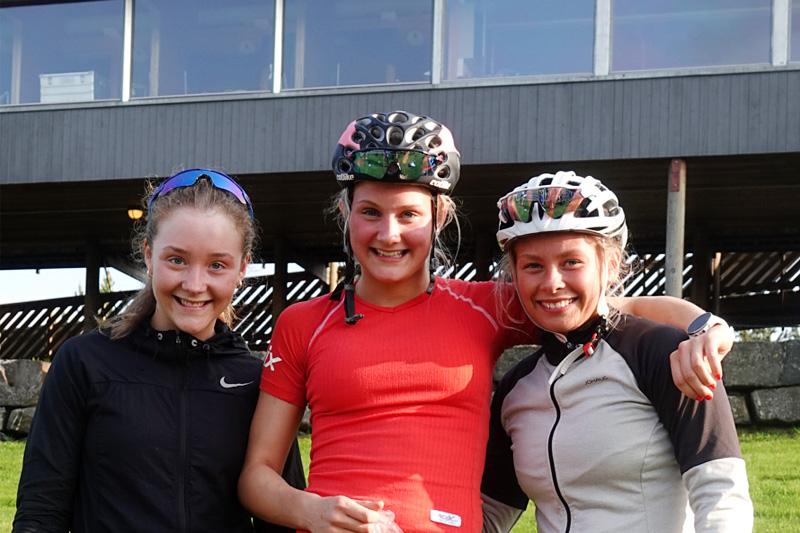 Damenes seierspall i Vårcup Lillehammer 2019. Foto: NTG Lillehammer.