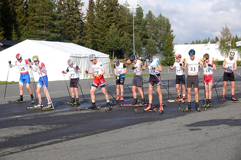Herrenes startfelt i Vårcup Lillehammer 2019. Foto: NTG Lillehammer.