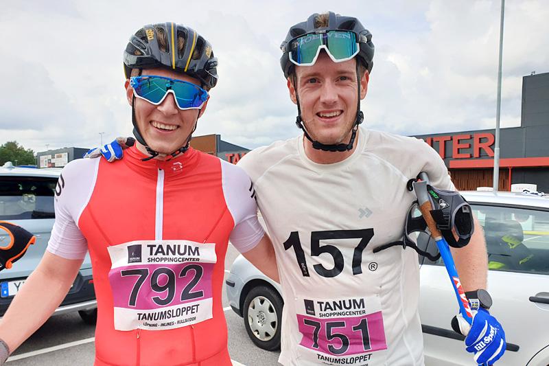 Ådne Gigernes og Øyvind Moen Fjeld i Tanumsloppet 2019. Foto:  Ole Jonny Gigernes.
