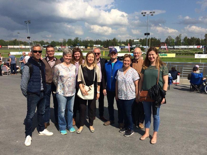 Deltagere i DIME-prosjektet fra Sverige, Finland, Frankrike og Norge på Østersundstravet.