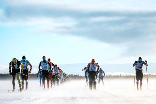 Elitegruppa i Nordenskiöldsloppet 2019. Foto: Magnus Östh / Red Bull Content Pool.