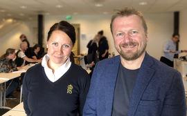 Gabriella Thorell og Oskar Solenes er i gang med spennende forskning!