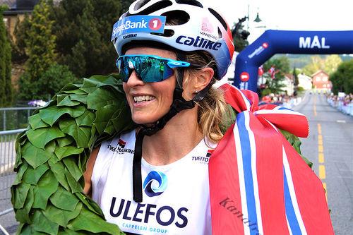 Therese Johaug vant Kanalrennet 2019, under Sommarland Skifestival i Telemark, med suveren margin. Arrangørfoto.