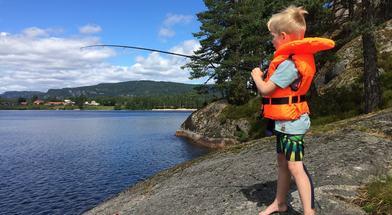 Fiske og bading