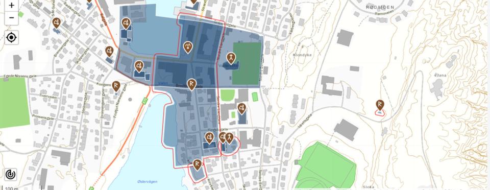 Oversikt kulturminner Vardø sentrum