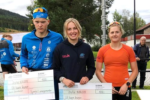 Raskeste løpere i prologen av Tour de Synnfjell 2019. Arrangørfoto.