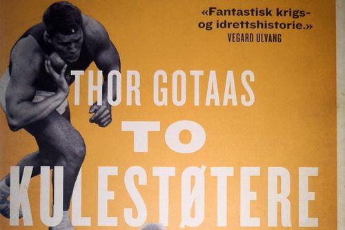 Utsnitt av frontsiden til boka To kulestøtere fra Finnmark av Thor Gotaas på Kagge forlag.