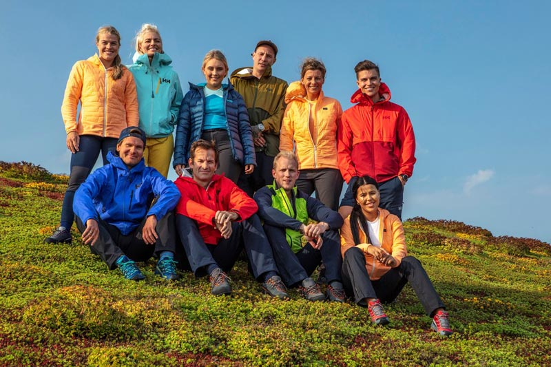 Deltakere i 71 grader nord - Norges tøffeste kjendis i 2019. Foto: Matti Bernitz / TVNorge.