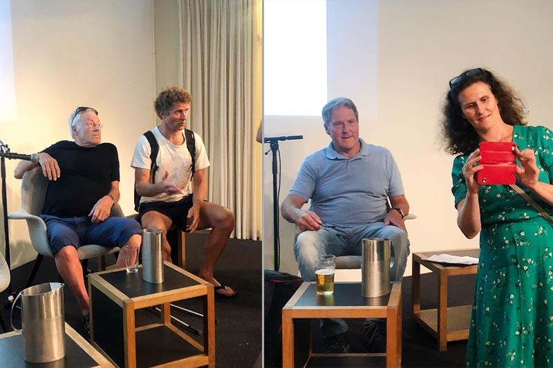 Fra venstre Bjørn Bang Andersen, Thor Gotaas, Harald Lorentzen og hans datter Ingrid. Foto: Sigmund Hov Moen. Fotomontasje: Langrenn.com.