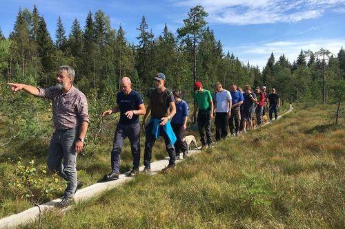 Norske Skispor sin første løypesamling ble med stor suksess arrangert på barmark 23. - 24. august i Asker. Foto: Norske Skispor.