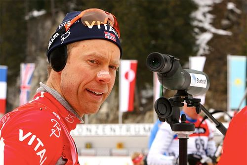Halvard Hanevold under VM i Anterselva i 2007. Foto: NordicFocus.