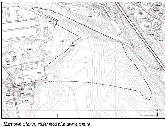 Orderudjordet - kartutsnitt planområdet for boliger