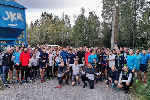 Like før start i 100 i Korken 2019. Foto: Team Raske Gutter.