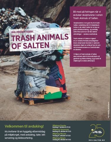 Plakat trash animals