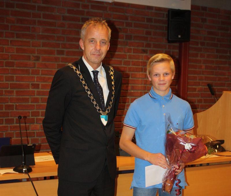 Richard Selbekk-Hansen mottar idrettspris