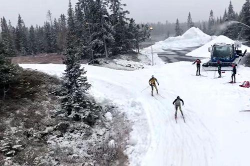 Skisesongen har startet hos Sjusjøen Skisenter og Natrudstilen. Foto: Sjusjøen Skisenter.