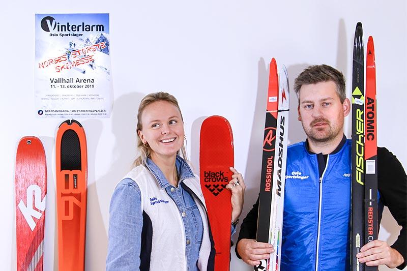 Alpinsjef Henriette W. Lund og langrennsjef Anders Gauslaa ser frem mot Vinterlarm på Vallhall Arena. Foto: Oslo Sportslager.