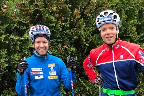 Sjur Røthe og Eirik Brandsdal på treningstur i Oslo høsten 2019. Foto: Sigmund Hov Moen.