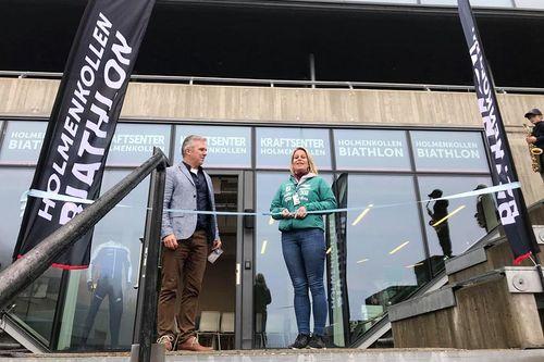 Fra åpningen av Kraftsenter Holmenkollen i regi av Holmenkollen Biathlon. Foto: Privat.
