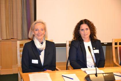 FUGs rådgiver Kjersti Falck og FUG-medlem Elin Refsland (t.h.)